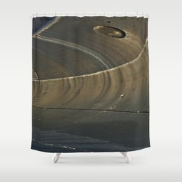 Abstract ship Hull Shower Curtain