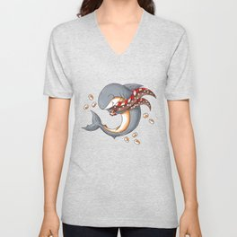 Hot Cocoa Shark Unisex V-Neck