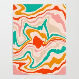 Warm abstract marble Poster