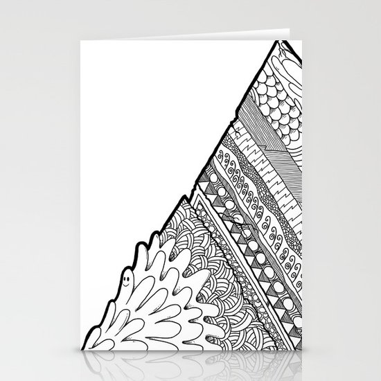 Triangle Doodle Stationery Cards