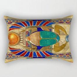 Sarcophagus 3d Egyptian Folk Art Rectangular Pillow