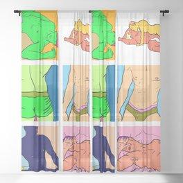 Pop Men VI Sheer Curtain