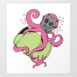 Radioactive Octopus Art Print