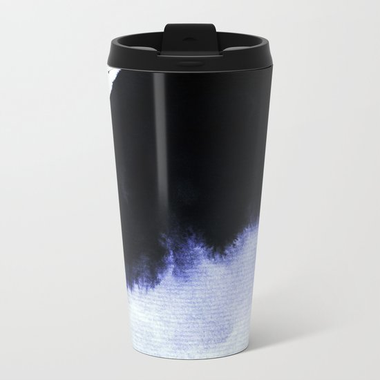 black & blue Metal Travel Mug
