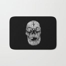 Black blooded Bath Mat