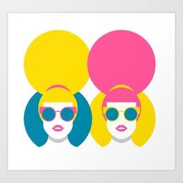 Glam Girls Art Print