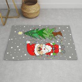 Playful Santa Rug
