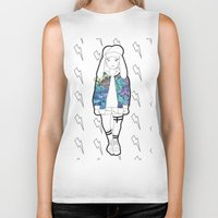 holographic Biker Tanks featuring Bunny Belle / Holographic by Millicent A Venton