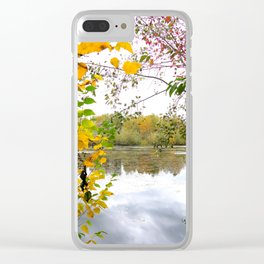Fall Foliage - vertical Clear iPhone Case