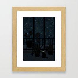 Night story Framed Art Print