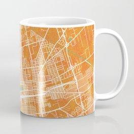 Stockton, CA, USA, Gold, Blue, City, Map Coffee Mug
