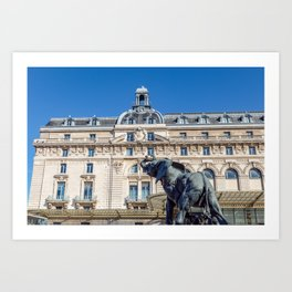 Elephant statue outside museum d'Orsay in Paris Art Print