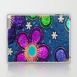 Glitter Flowers Laptop & iPad Skin