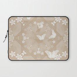 Dreamy butterflies and mandala in iced coffee Laptop Sleeve