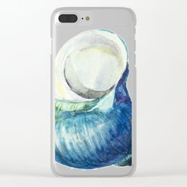Blue Shell Clear iPhone Case
