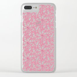 Candy cane flower pattern 5 Clear iPhone Case