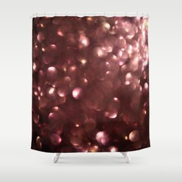 Dark Pink Sparkles Shower Curtain