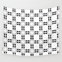 terrier Wall Tapestries featuring Terrier by Janae Hall