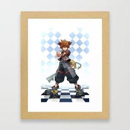 Sora: The Keyblade Master Framed Art Print
