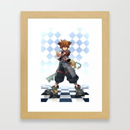 Sora: The Keyblade Master Framed Art Print