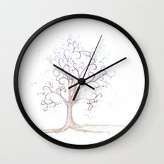 elven tree Wall Clock
