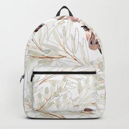 Watercolor Giraffe Art Backpack