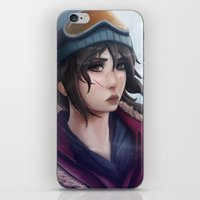 tomb raider iPhone & iPod Skins featuring Rise of the Tomb Raider by Massimo Magnago