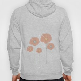 Poppies - pink and teal Hoody