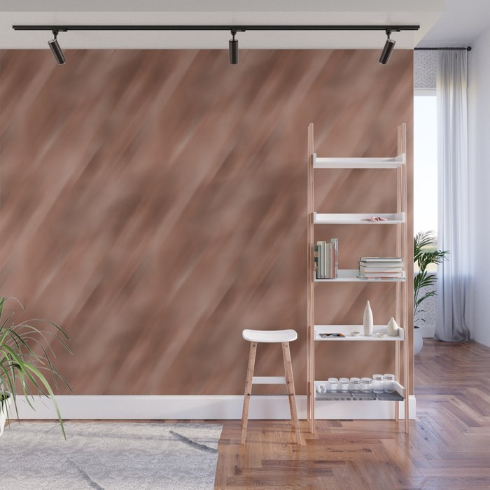 Abstract Motion Blur Blended Colors Inspired By Sherwin Williams Cavern Clay SW 7701 Wall Mural