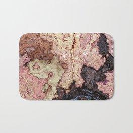 beige pink puce brown graphite marble Bath Mat