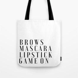 PRINTABLE Art,Makeup Print,Makeup Bathroom Decor,Girls Room Decor,Girls Bedroom Decor,Mascara Print Tote Bag