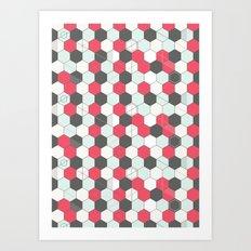 Hexagons Pattern Art Print