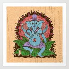 peace ganesh Art Print