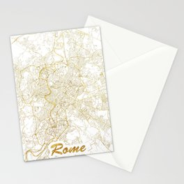 Rome Map Red Stationery Cards