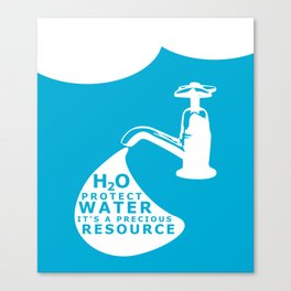 WATER CONSERVATION Canvas Print