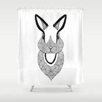 rabbit Shower Curtains featuring Rabbit by Art & Be