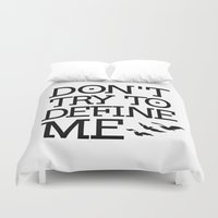 divergent Duvet Covers featuring Don't Try to Define Me - Divergent by All Things M