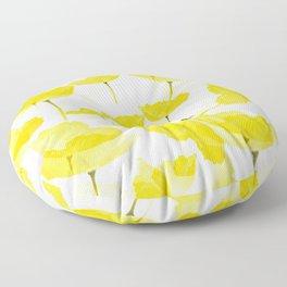 Light Yellow Poppies Spring Summer Mood #decor #society6 #buyart Floor Pillow