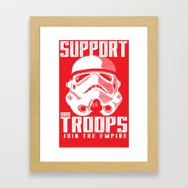 Support Our Troops Framed Art Print