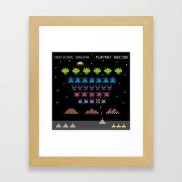 Space Intruders Framed Art Print