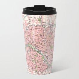 Antique Map of Paris & Environs Travel Mug