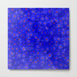 blue daisy flowers Metal Print