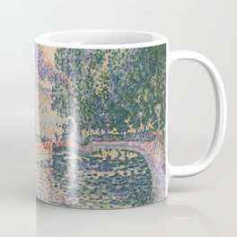 The Tugboat, Canal in Samois Coffee Mug