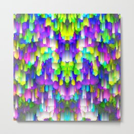 Colorful digital art splashing G392 Metal Print