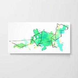 Origami: Ferret Metal Print