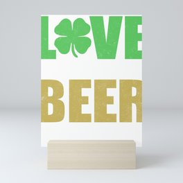 Love In Our Hearts Beer In Our Bellies Mini Art Print