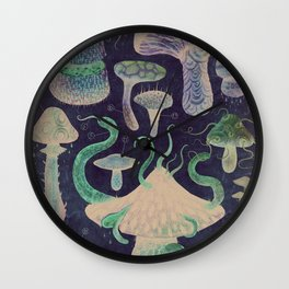 The Fungus Kingdom - Nocturnal Wall Clock