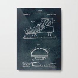 1909 - Hockey shoe patent art Metal Print