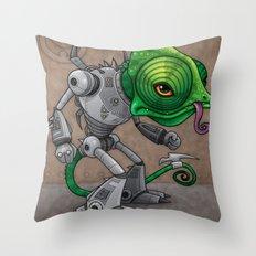 Chameleozoid Throw Pillow