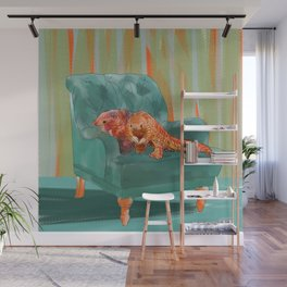 animals in chairs #5 the Pangolin Wall Mural